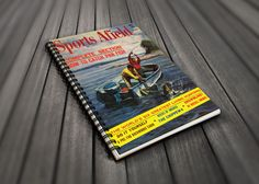 Party Guest Book - Sports Afield Bass Fishing Cover Art - Fishing Themed Party - Fishing Gift For Him - Retirement Party Gift - Boat Motor by AdirondackRetro on Etsy