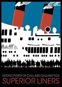 SUPERIOR LINERS poster by Johanna Riley @ Linnea Design (http://www.linneadesign.com/)