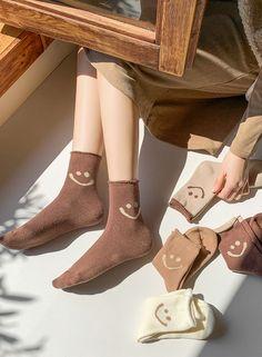 Fluffy Socks, Warm Socks, Brown Socks, Cheap Socks, Cute Homecoming Dresses, Cute Lazy Outfits, Cute Socks, Girls Socks, Designer Socks
