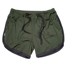 Part of our newest release series these COMMANDO Mesh™ Training Shorts come in an Army Green mesh, black piping and a black drawstring with gun metal tips. Mens Gym Shorts, Chino Shorts, Running Shorts, Workout Shorts, Athletic Shorts, Polyester Material, Mesh Material, Sport, Mens Fitness