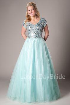 Hailey -Modest Mormon LDS Prom Dress