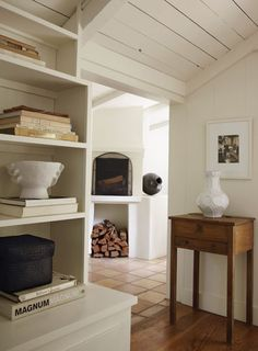 white modern rustic interior