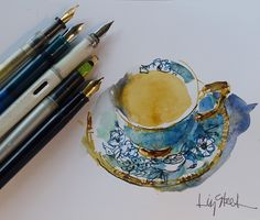 Liz Steel: Fountain Pen Sketching Part 2: Why draw with a fountain pen?