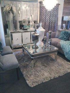 Salas en morado y gris decoracion pinterest gris y for Espejo gris plata