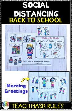 Back to School Social Distancing Visuals
