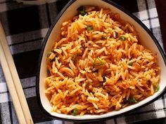 Schezwan Fried Rice Recipe with step by step photos. spicy and tasty stir fried indo chinese recipe of vegetables and rice in schezwan sauce. Cooked Rice Recipes, Leftover Rice Recipes, Leftovers Recipes, Spicy Recipes, Vegetable Recipes, Curd Rice Recipe, Best Rice Recipe, Ven Pongal Recipe