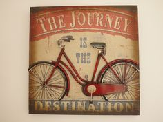 Large Cyclist Wall Plaque from Olive and Sage