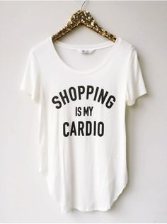 Shopping Is My Cardio Flowy Tee