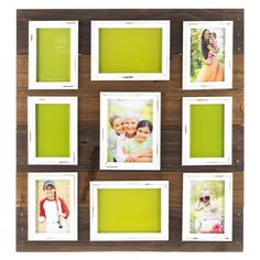 Wood Pallet Photo Collage With White Distressed Frames Shabby Chic Decor Friends Picture Frame, Collage Picture Frames, Frames On Wall, Shabby Chic Frames, Shabby Chic Decor, Diy Projects Videos, Fun Projects, Mdf Frame, Dining Room Wall Decor