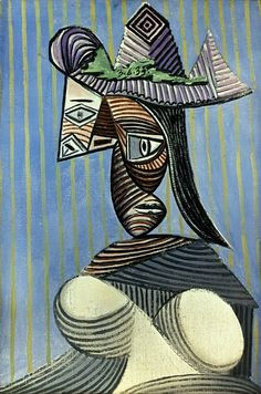 1896 Pablo Picasso (Spanish artist, Portrait of the Artist's Mother. Pablo Picasso, one of the dominant & most influential . Kunst Picasso, Picasso Art, Picasso Paintings, Picasso Drawing, Art Paintings, Cubist Movement, Spanish Artists, Indigenous Art, Mural Painting