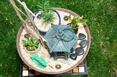 a few mini zen gardens would be awesome focal points!
