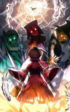 Shinmyoumaru vs Konpaku, Reimu, and Marisa