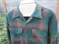 Vintage Pendleton Shadow Plaid board shirt brown & by Simplemiles, $64.00