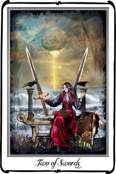 Tarot- Two of Swords by azurylipfe on DeviantArt
