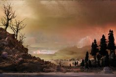 Kim Keever's Unusual Water Tank Diorama Photography