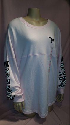 Victoria's Secret Love Pink Rare Limited Ed Aztec Print Top Hoodie L Embellished #VictoriasSecret #EmbellishedTee
