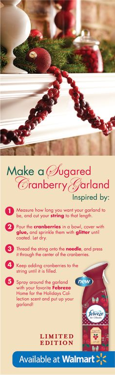 This garland is a perfect holiday decoration & perfect for kids to make! #FebrezeHoliday
