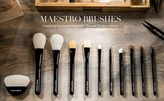 Giorgio Armani Maestro Brushes - Released November 2015 (Japanese Handmade Brushes.) I have not seen them in person, but they look pretty nice.