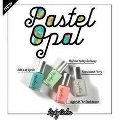 NEW from our own RickyColor Nail Polish line! The PASTEL OPAL neon pastel collection!