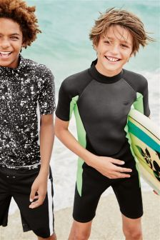 Black/Green Wetsuit (1-16yrs)