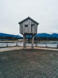 House on Stilts in Coal Harbour - Stanley Park Seawall, Vancouver BC