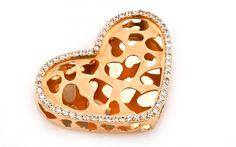 """Zlatý exkluzívny prívesok """"hearts in the heart"""" srdcia v srdci"""