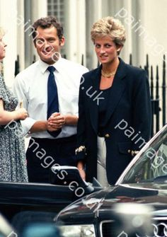 September 14, 1994:  Princess Diana and Paul Burrell outside Daniel Galvins…
