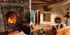 Stunningly Beautiful Hobbit-Style Fireplaces