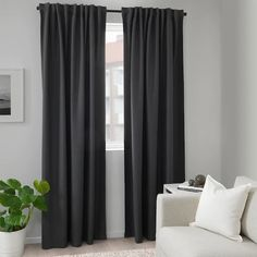 ANNAKAJSA Blackout curtains, 1 pair IKEA Black-out curtains blocks light from shining through and completely darkens your room. Curtains Living Room, Curtains Bedroom, Room Darkening, Curtains, Room Darkening Curtains, Kids Curtains, Master Bedroom Interior, Block Out Curtains, Cool Curtains