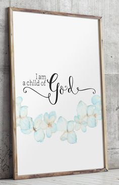I am a child of God Nursery bible verse by TwoBrushesDesigns