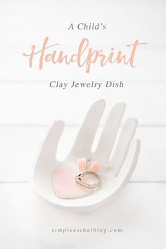 Create a keepsake handprint jewelry dish out of clay using your child's hand – they're easy to make and are a darling gift idea to keep in mind for Mother's Day. These sweet little dishes are guaranteed to melt any Mom or Grandma's heart.