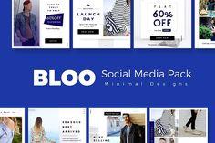 Bloo Social Media Kit by Prashanth Yadav on @creativemarket