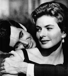 Anthony Perkins and Ingrid Bergman in a publicity shot for Goodbye Again (1961).