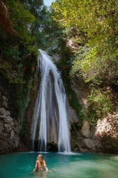 See the most impressive waterfalls in Greece. Greece, is Europe's most mountainous country. See pictures of its waterfalls and their location Places In Greece, See Picture, The Good Place, Greek, Europe, Country, Waterfalls, Nature, Visit Greece