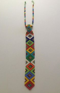 Beaded tie necklace Zulu Women, Grease Stains, Looking Stunning, Czech Glass Beads, Silk Ties, Weaving, Beaded Necklace, Delicate, Stuff To Buy