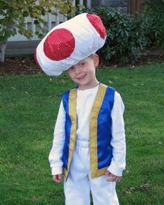Disfraz casero de Toad (Mario Bros)