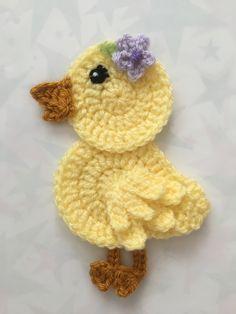 Crochet Applique Patterns Free, Baby Boy Knitting Patterns, Baby Applique, Crochet Bunny Pattern, Crochet Birds, Crochet Unicorn, Crochet Animal Patterns, Easter Crochet, Crochet Blanket Patterns
