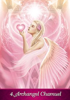 Archangel Chamuel- from the Angel Inspiration deck by Kim Dreyer