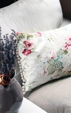 How wonderful is that small pom trim on that pillow!  Inspiration Lane