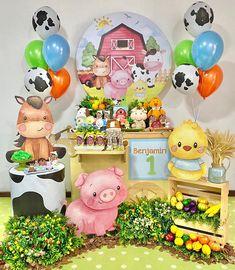 First Birthday Parties, First Birthdays, Candy Bars, Instagram, Playrooms, Dinosaur Birthday Party, Farmhouse, Cow, Christening
