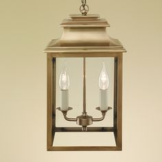 Simple and elegant, the small Mayfair lantern is available in polished nickel or aged brass, small, medium or large. Lantern Ceiling Lights, Porch Lanterns, Wall Lights, Pendant Chandelier, Pendant Light Fixtures, Hall Lighting, Luxury Interior Design, Light Decorations, Candle Sconces