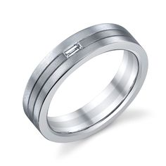 German made, Christian Bauer 18K - Platinum Two-Tone Diamond Wedding Ring / Band 241102 for about $2,485