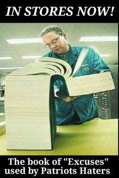 "Patriots Haters book of ""Excuses"""