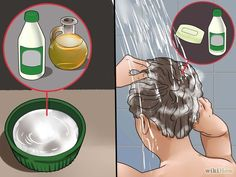Image titled Remove Dye from Hair Step 3 Diy Hair Dye Remover, Hair Dye Removal, Hair Color Remover, Natural Hair Removal, Dyed Natural Hair, Natural Hair Styles, Lighten Hair Naturally, How To Lighten Hair, Splat Hair Dye