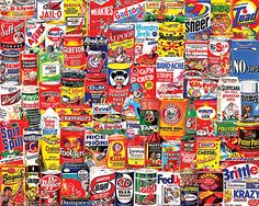 """Wacky Packages"" ~~ (1000 Pieces - 24"" x 30"") puzzle by White Mountain Puzzles ~ $16.95 on whitemountainpuzzles.com // $14.11 on amazon.com"