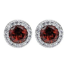 White Gold, Diamonds, & Garnet | Gabriel NY | Engagement Rings | Engagement Jewelry
