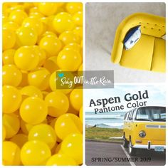 Aspen Gold is a sunny yellow designated by Pantone as one of the Spring/Summer 2019 Color Trends. #pantone #colortrends