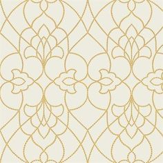 DN3736 | Modern Luxe by Candice Olson, Yellow Dotted Pirouette Contemporary Wallpaper