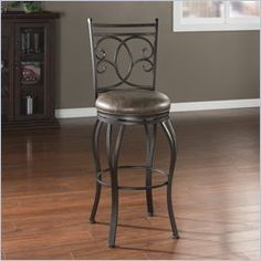 Upgrade your counter seating area with the American Heritage Nadia Bar Stool. This bar stool has a full back, which provides complete comfort. Featuring a classic style, it is easy to match with the rest of your home decor. It is designed with a swiv Metal Bar Stools, Swivel Bar Stools, Counter Stools, Hillsdale Furniture, Dining Furniture, Adjustable Bar Stools, Cool Chairs, Bar Chairs, Foot Rest