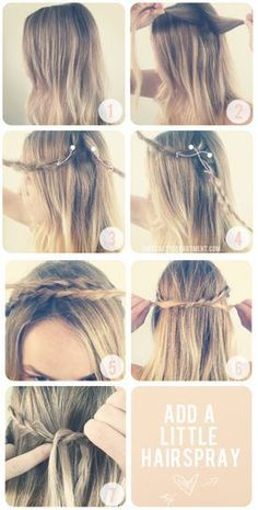 Braid Headband (hair,braid,how to,headband,hairstyle)